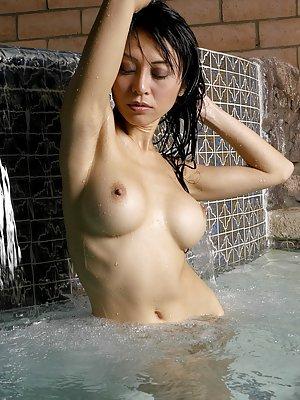Pool Asian Tits